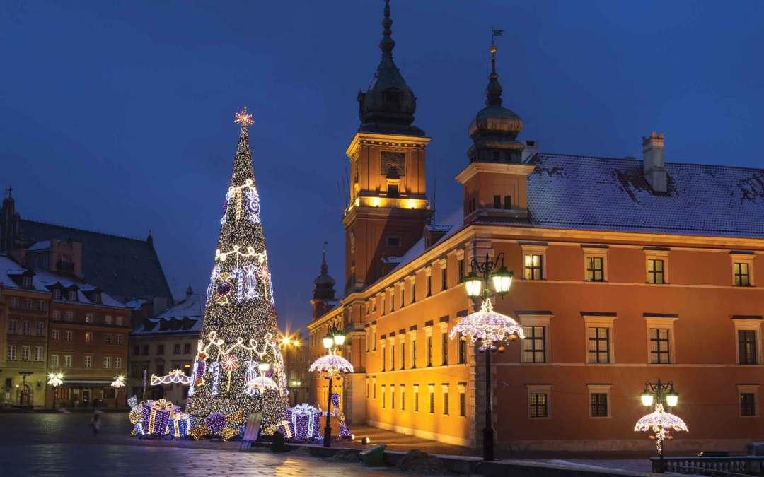 Polska – Warszawa wświątecznych  iluminacjach