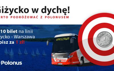 Bilet na podróże z Polonusem do kupienia za 1 zł!
