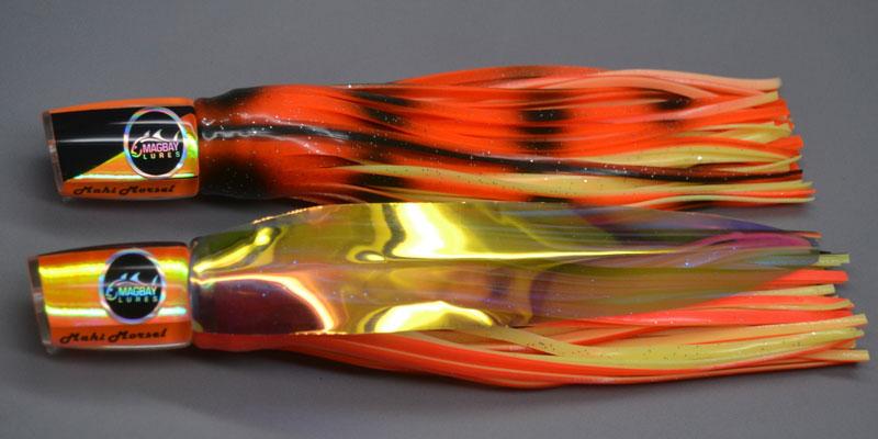 Mahi Mahi Lure Orange and Black Mahi Morsel