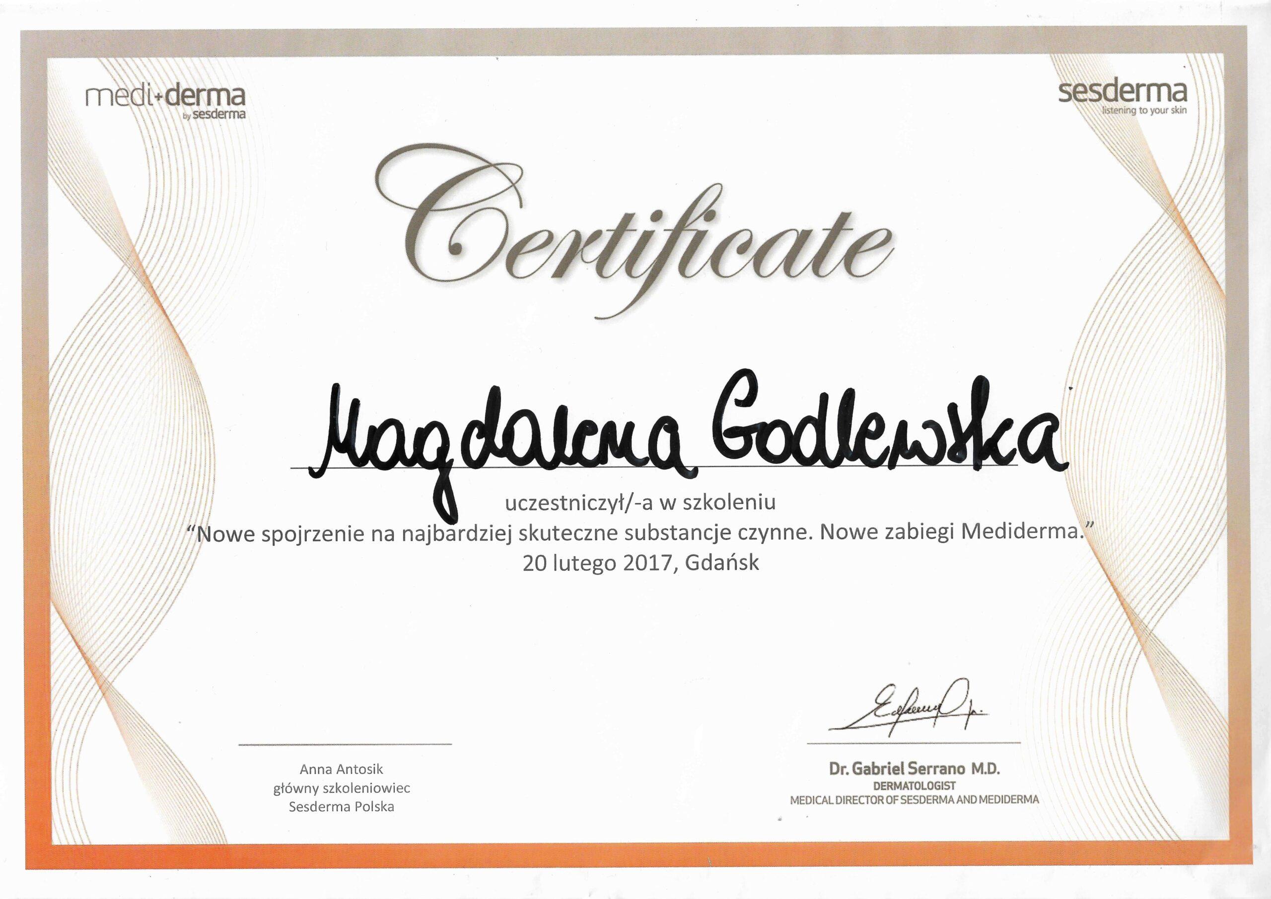 Medi_derma certyfikat