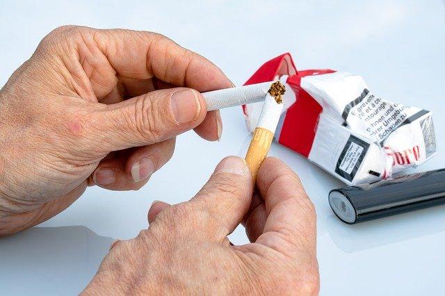 Mit dem Rauchen aufzuhören eliminert eine Quelle von heterozyklischen Aminen.