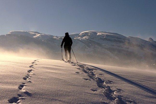 Schritte im Schnee zu hinterlassen ist reizvoll wie der Beginn eines neuen Jahres!