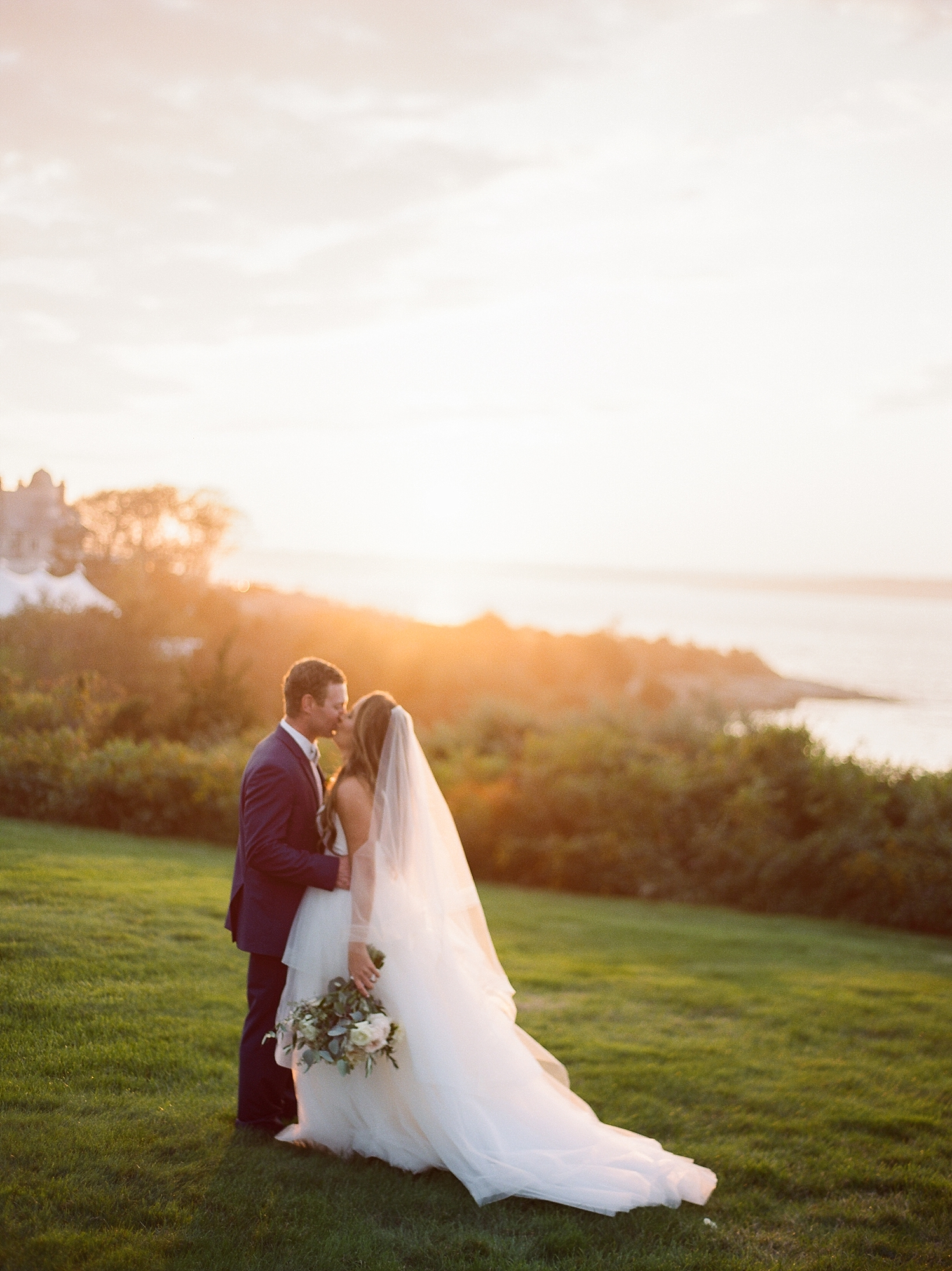 Coastal and Authentic Film Wedding Photography in Newport Rhode Island by Magdalena Studios 0075