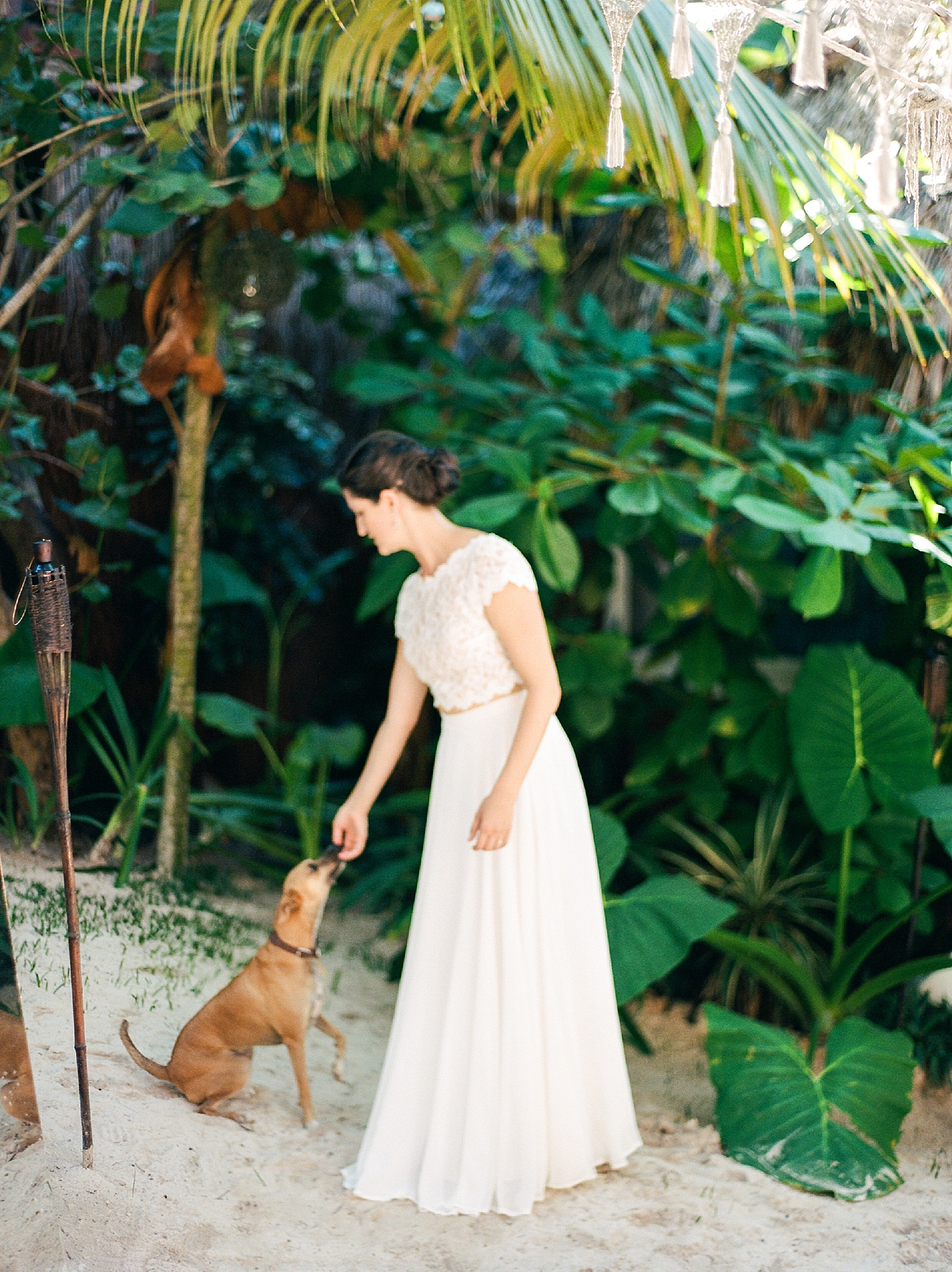 Stylish and Candid Destination Film Wedding Photography in Tulum Mexico by Magdalena Studios 0008