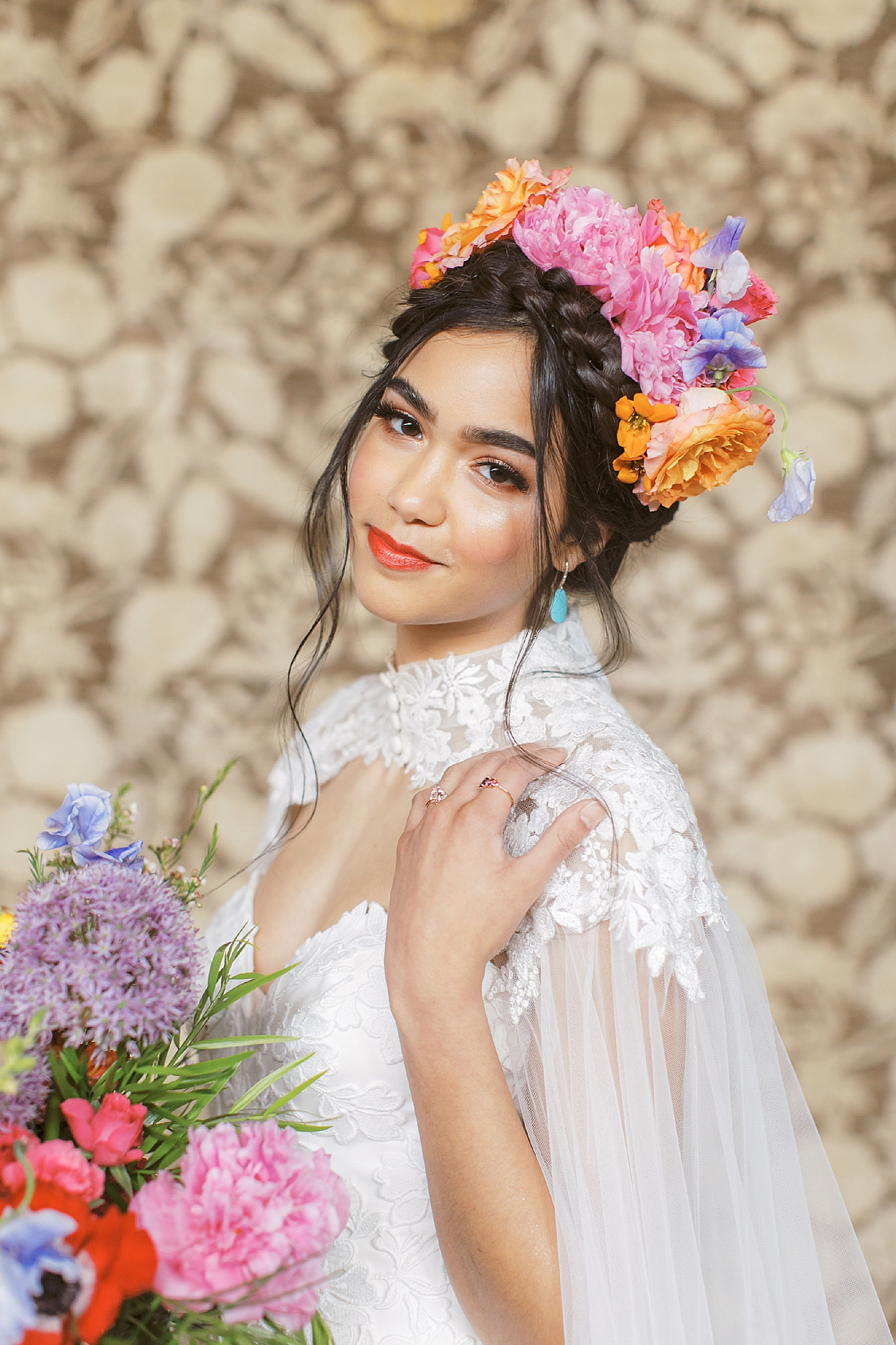 Vibrant and Colorful Frida Kahlo Inspired Wedding Photography by Magdalena Studios 0015