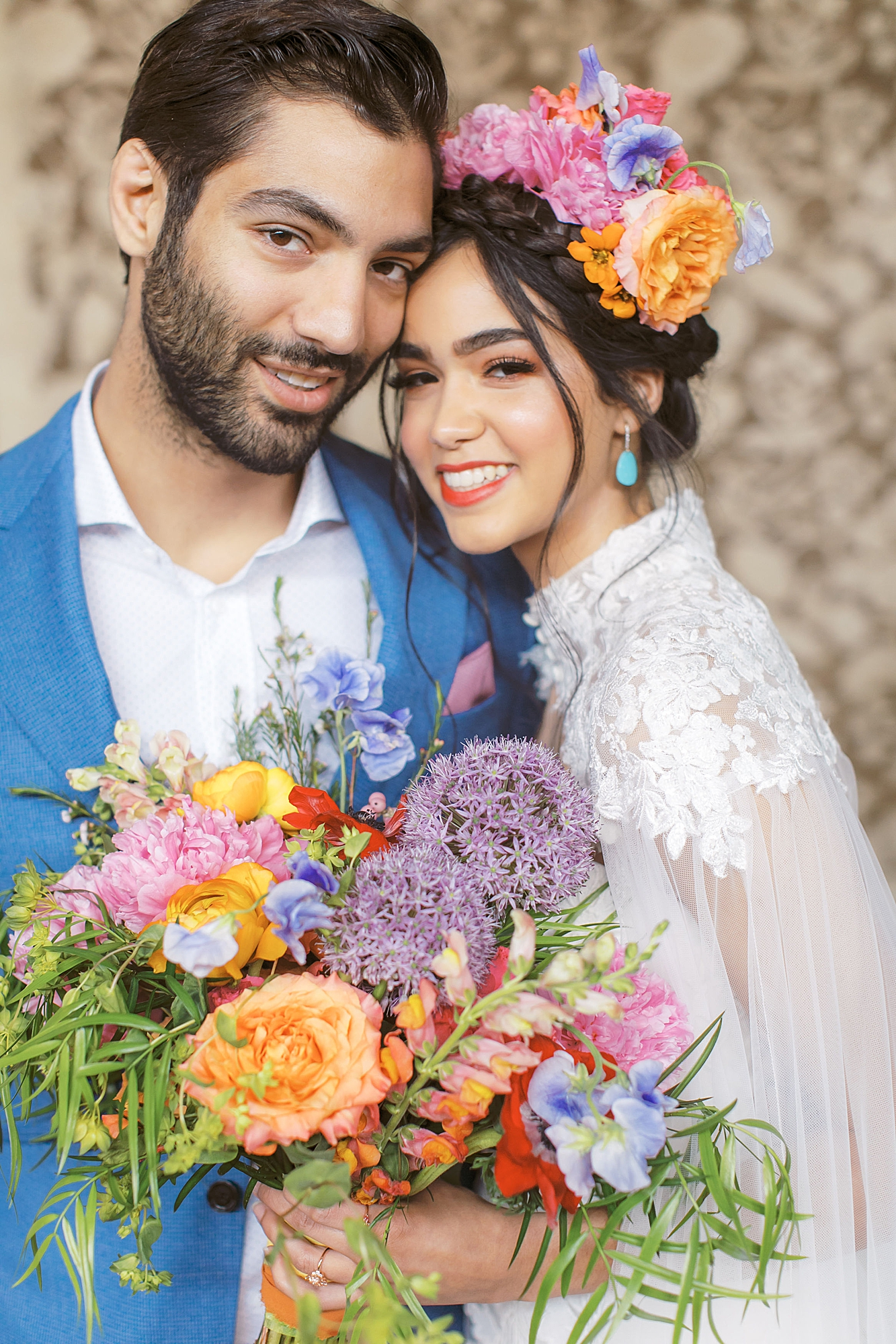 Vibrant and Colorful Frida Kahlo Inspired Wedding Photography by Magdalena Studios 0019