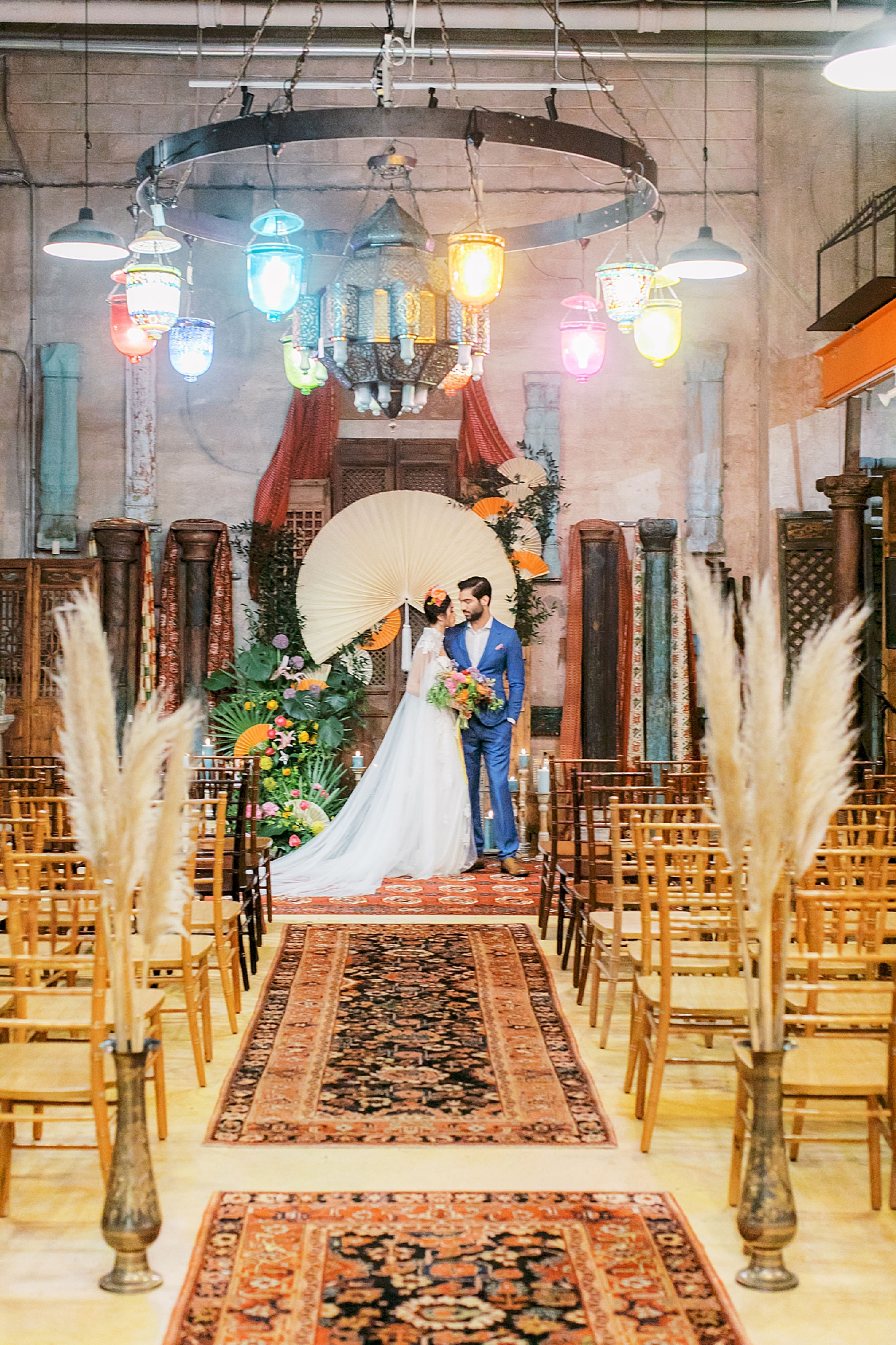Vibrant and Colorful Frida Kahlo Inspired Wedding Photography by Magdalena Studios 0035
