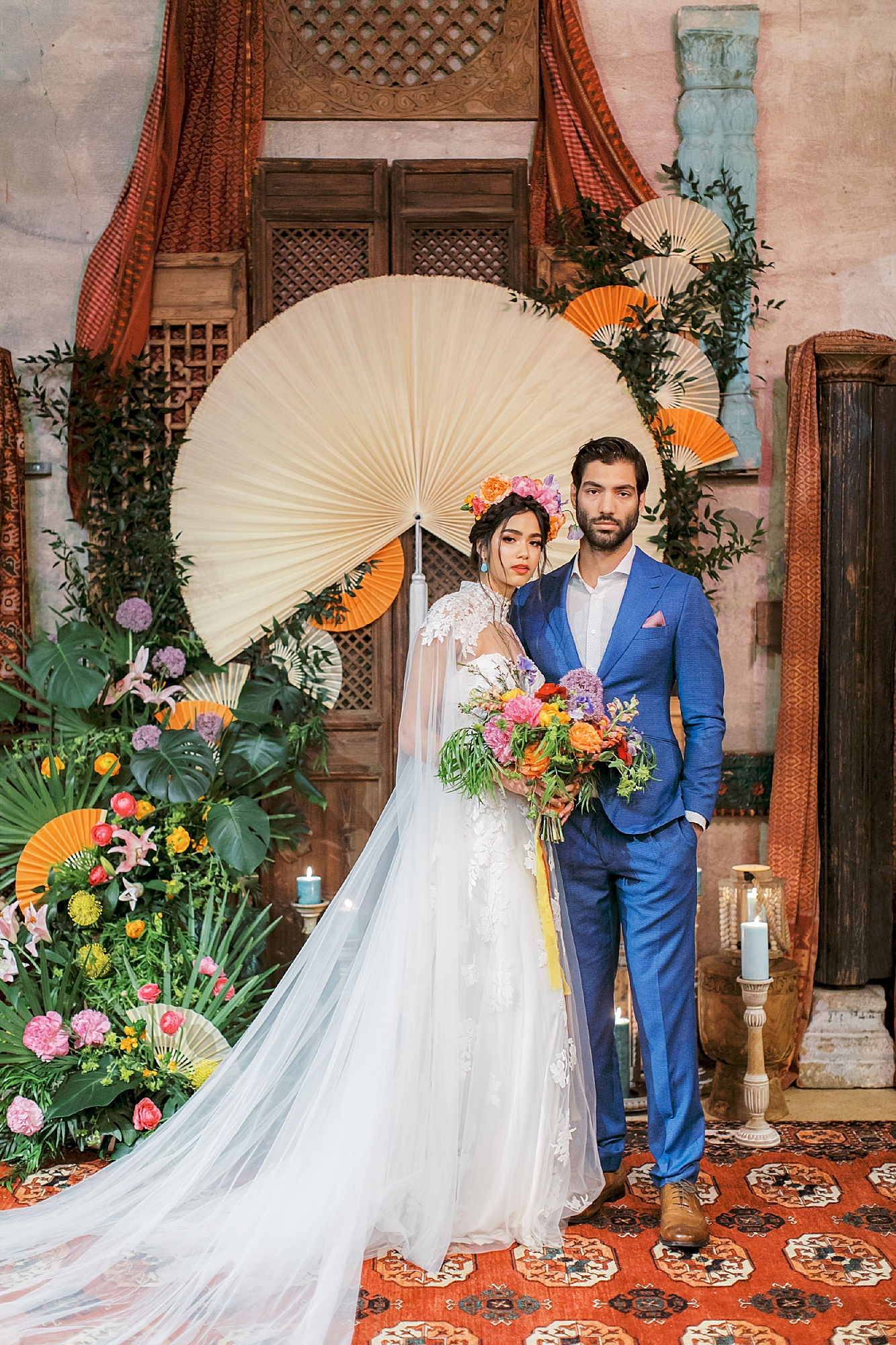 Vibrant and Colorful Frida Kahlo Inspired Wedding Photography by Magdalena Studios 0037