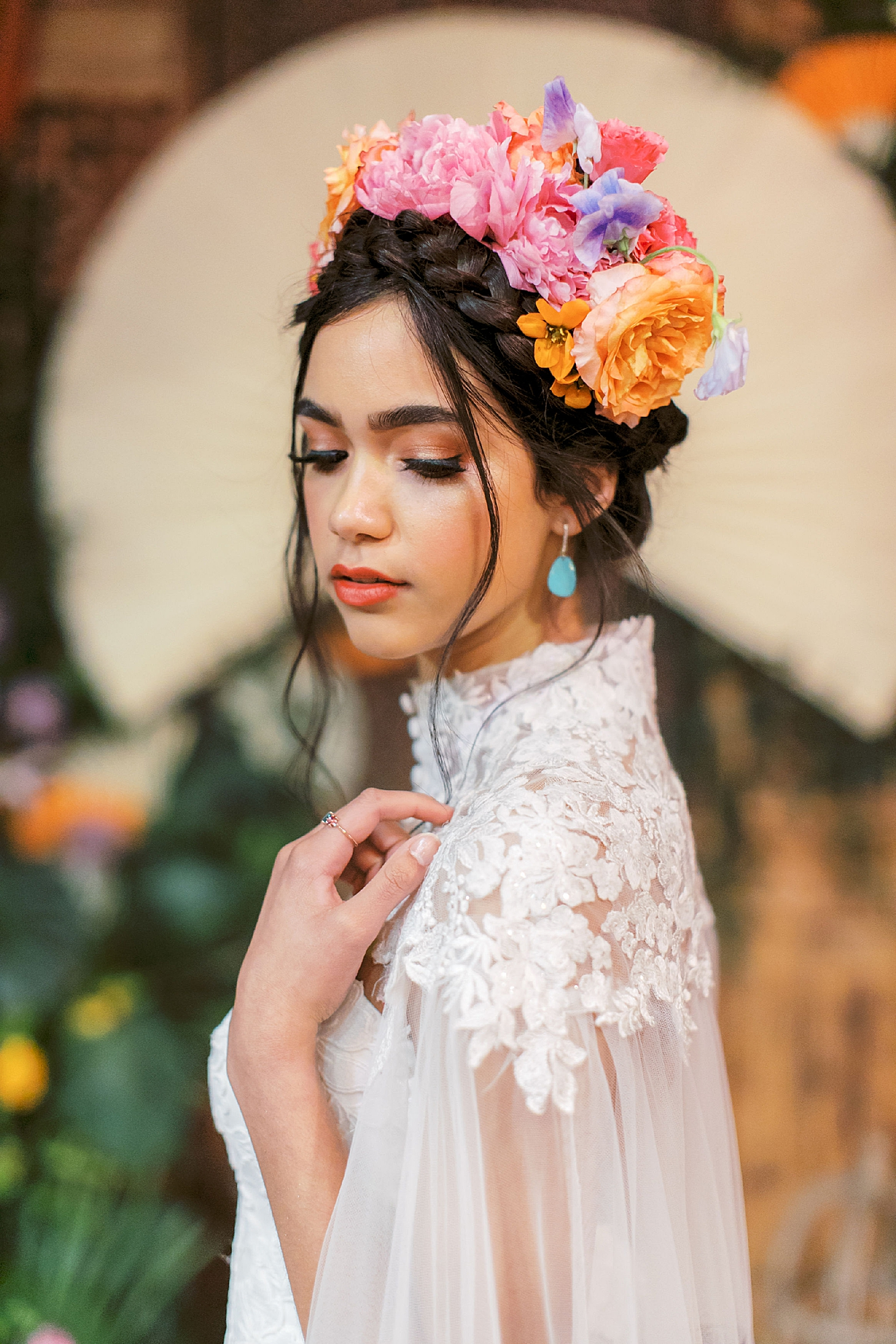 Vibrant and Colorful Frida Kahlo Inspired Wedding Photography by Magdalena Studios 0040