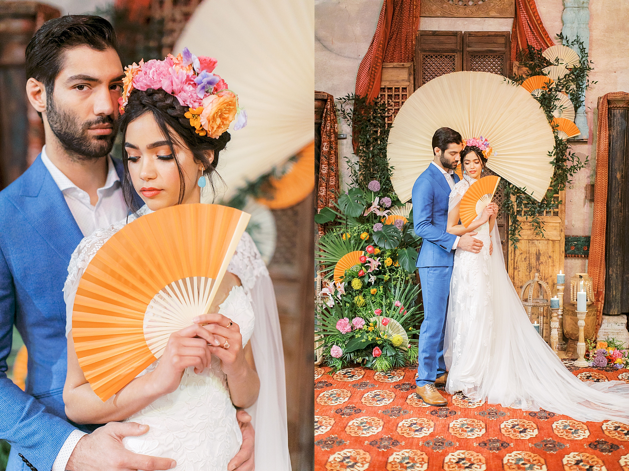 Vibrant and Colorful Frida Kahlo Inspired Wedding Photography by Magdalena Studios 0041