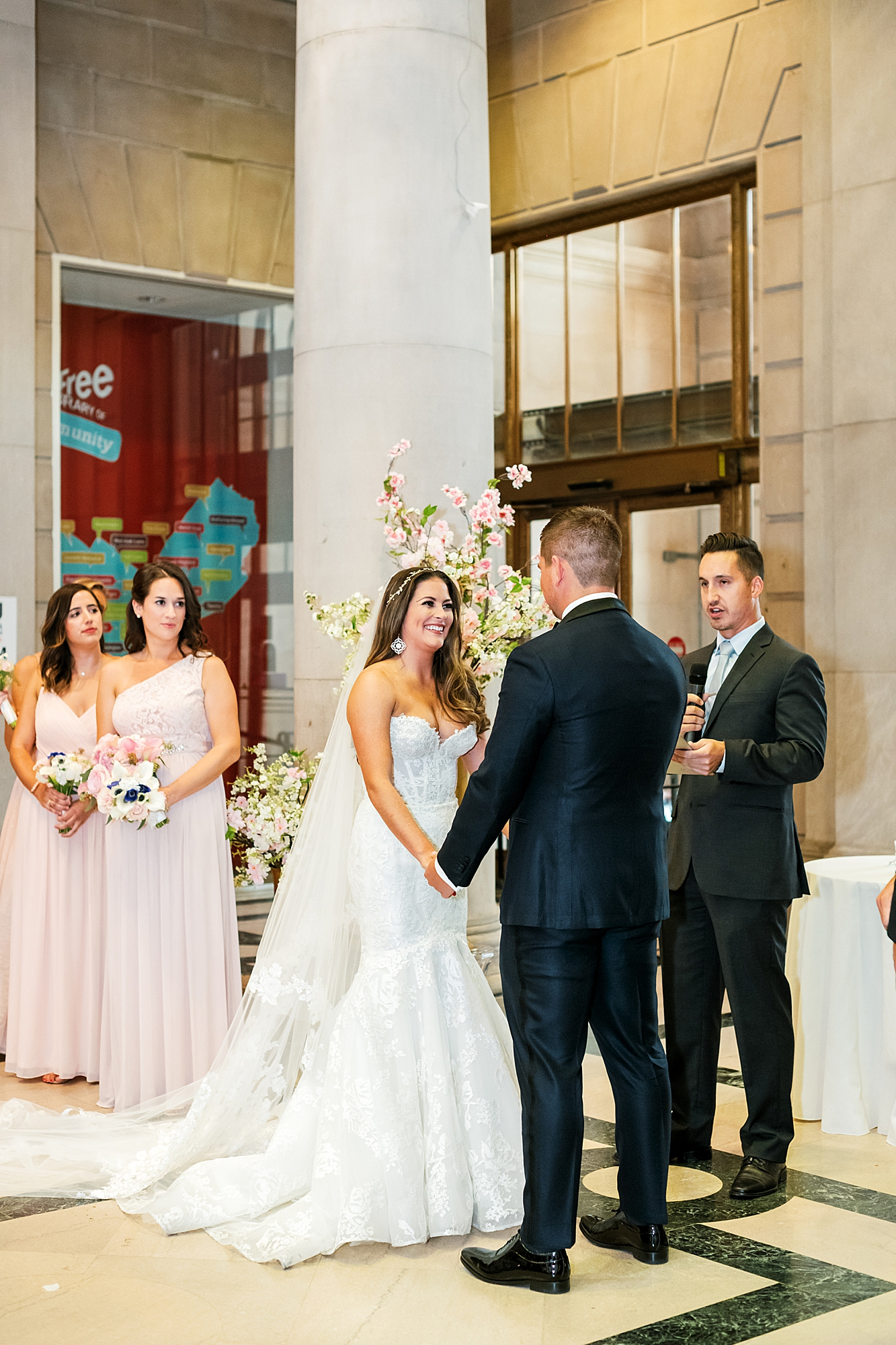Free Library of Philadelphia Wedding Photography by Magdalena Studios 0016