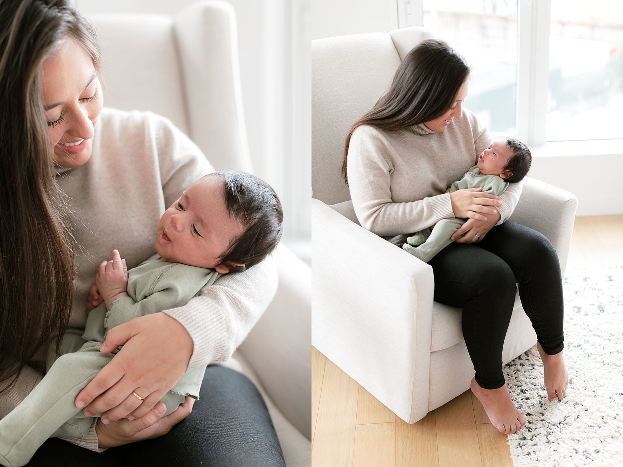 Lifestyle Home Newborn Session Family Portraits NYC by Magdalena Studios11