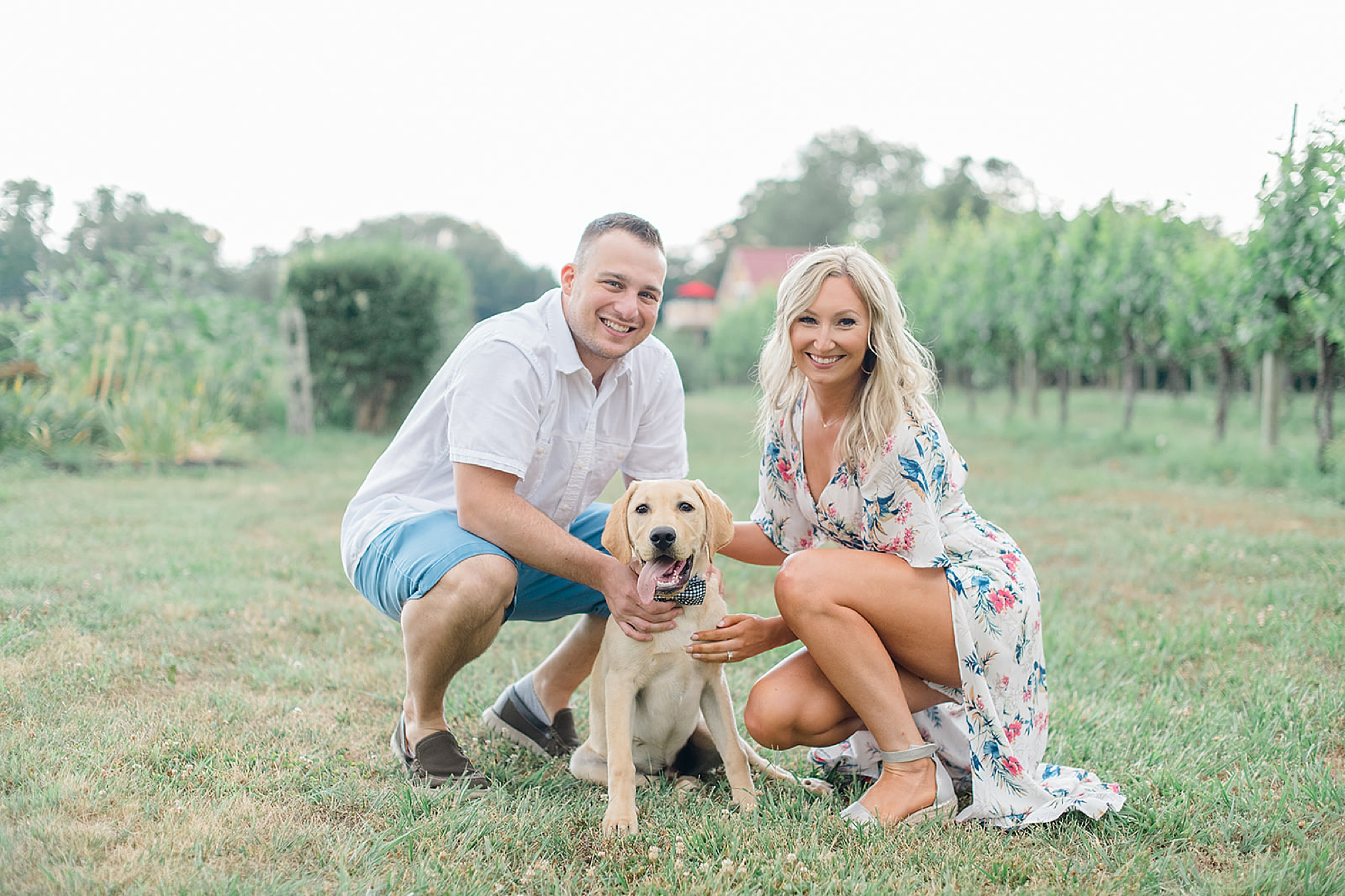 Willow Creek Winery New Jersey Engagement Photography with Dog by Magdalena Studios 0001