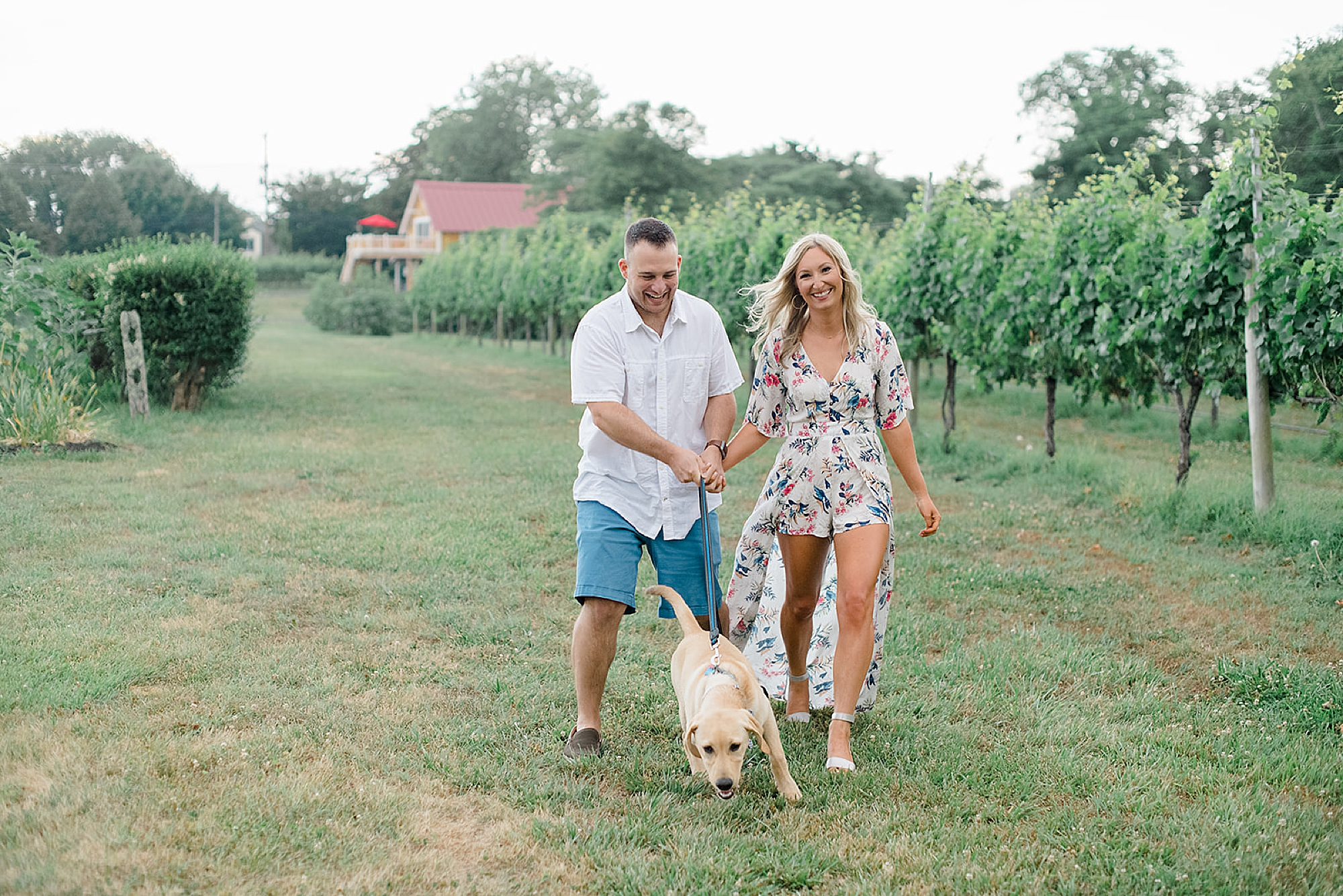 Willow Creek Winery New Jersey Engagement Photography with Dog by Magdalena Studios 0003