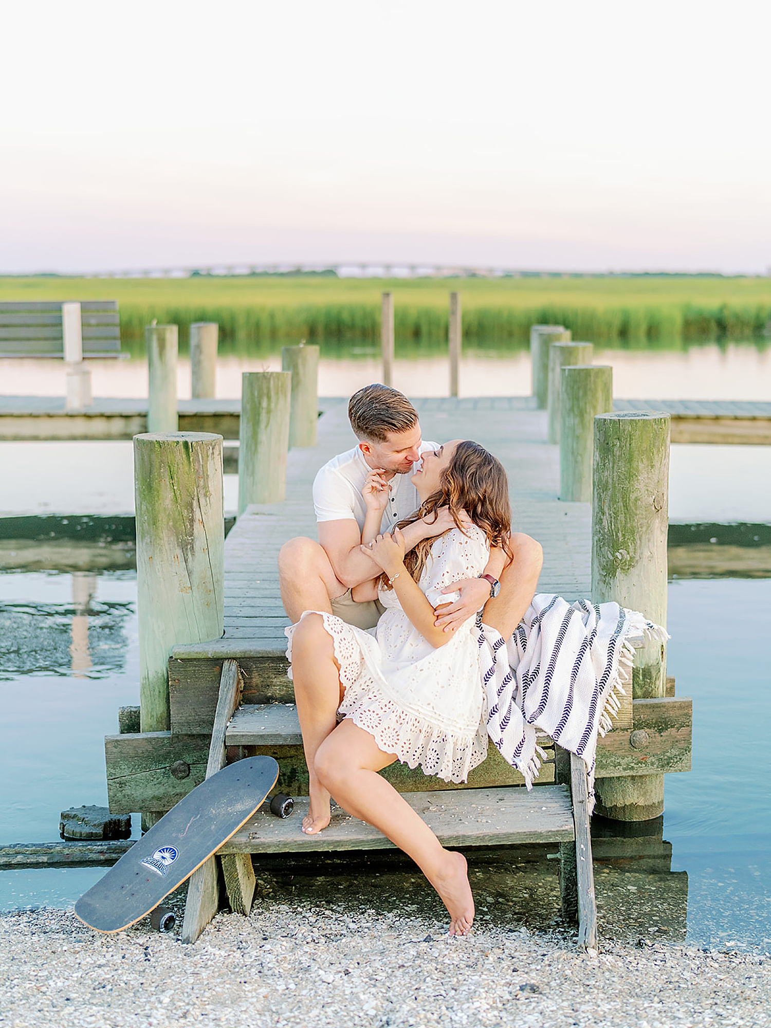 Ocean City New Jersey Engagement Photography with puppy by Magdalena Studios 0021