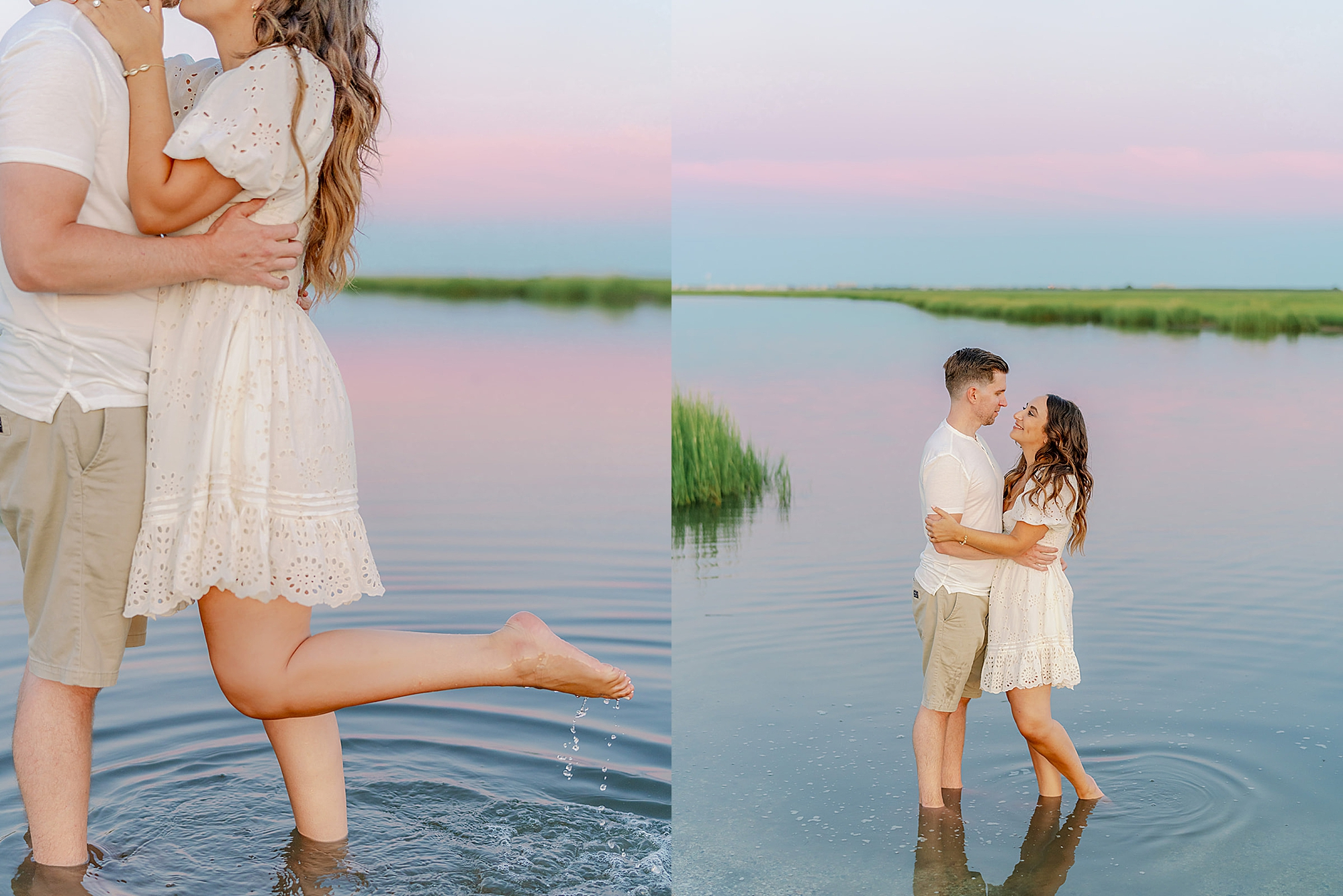 Ocean City New Jersey Engagement Photography with puppy by Magdalena Studios 0027