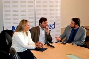 Destacada visita a Magdalena de los senadores Petrovich y Lanaro