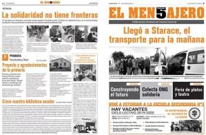 El Mensajero de Starace, un medio que comunica a la comunidad desde la escuela