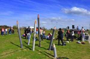 Con un festival artístico se conmemoró La Noche de los Lápices
