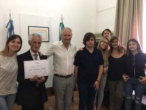 José Haedo y Martín Cardozo distinguidos en el Senado bonaerense