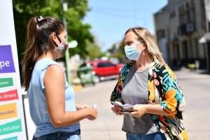 """La campaña """"No estas sola"""" recorrió las calles de Magdalena"""