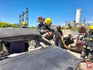 La capacitación de los bomberos voluntarios