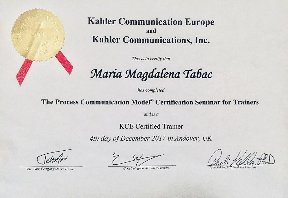 PCM Certification Magda Tabac v2 2 - About Me