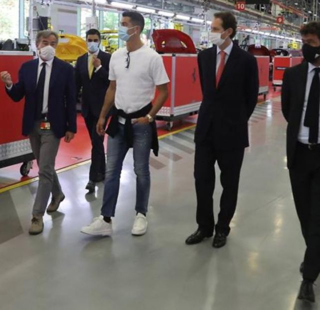 Cristiano Ronaldo visited the Ferrari factory and bought one