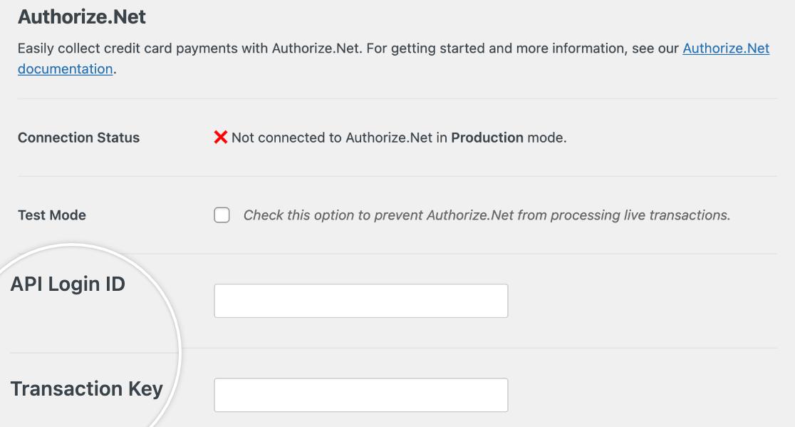 Authorize.Net integration with WPforms