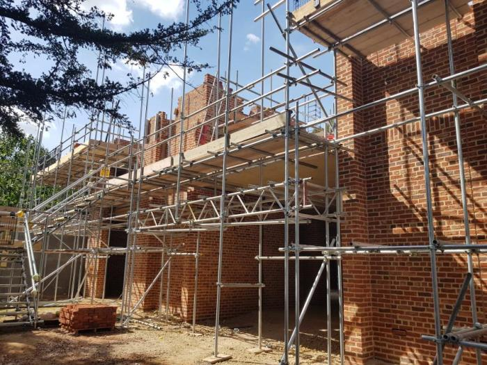 image of the new library building works