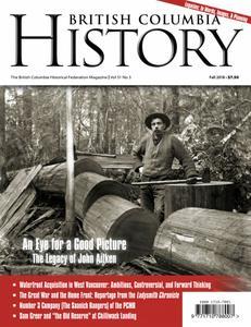 British Columbia History – September 2018