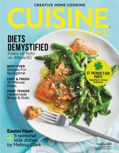 Cuisine at Home – March April 2019