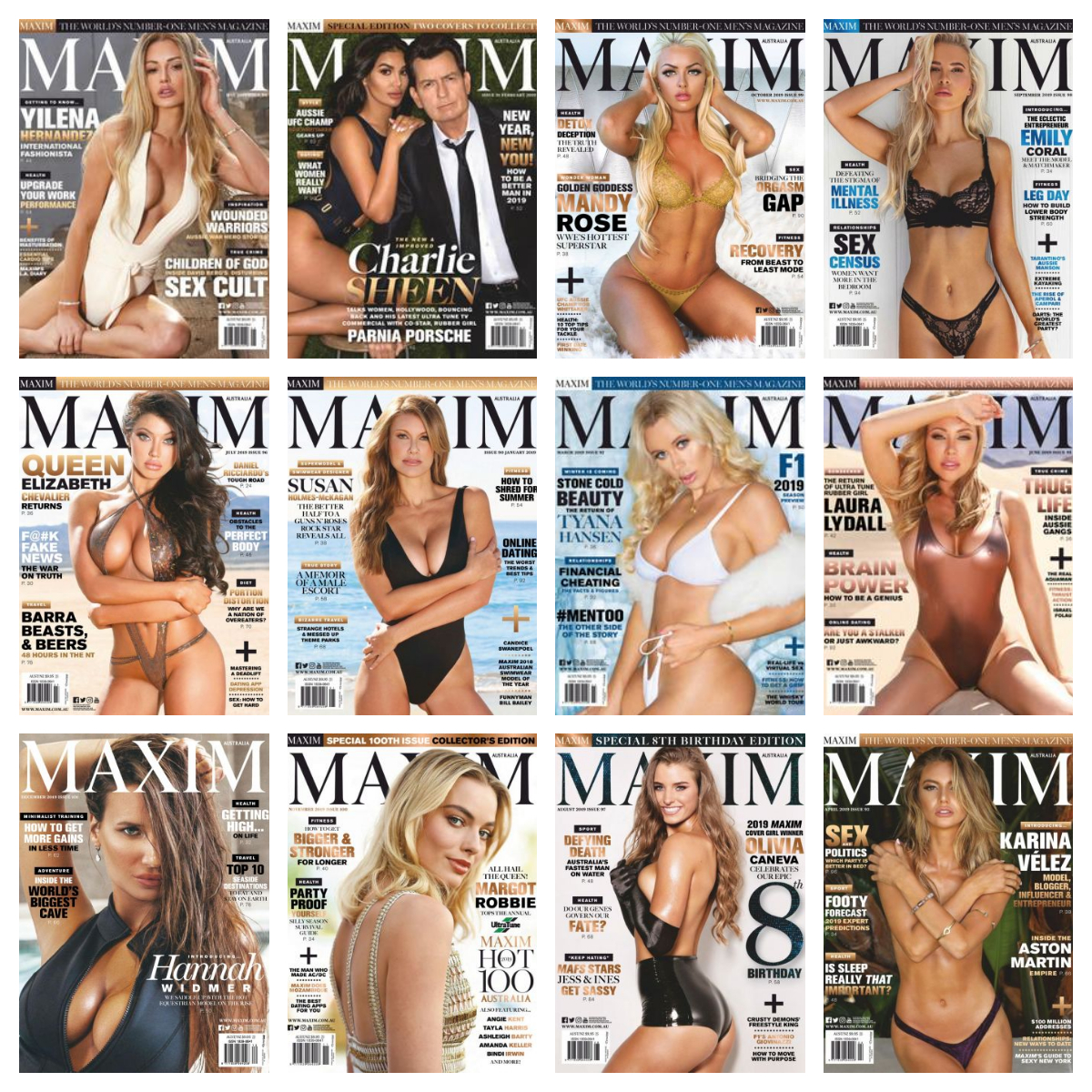 Maxim Australia – 2019 Full Year Issues Collection