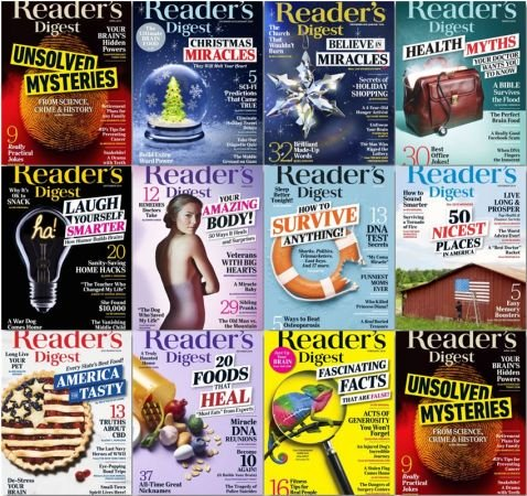 Reader's Digest USA – 2019 Full Year Issues Collection