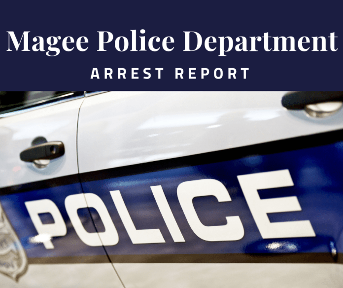 Magee Police Department Arrest Report