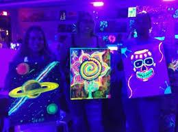 Tween Blacklight Painting