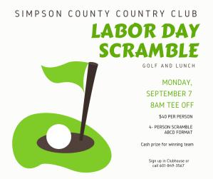 SCCC Labor Day Scramble