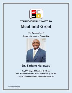 Meet and Greet for the new Superintendent