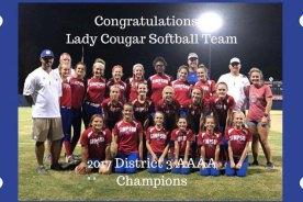Congratulations Lady Cougar Softball Team