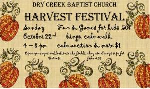 Harvest Festival @ Dry Creek Church