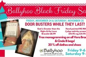 Ballyhoo Black Friday Sales!
