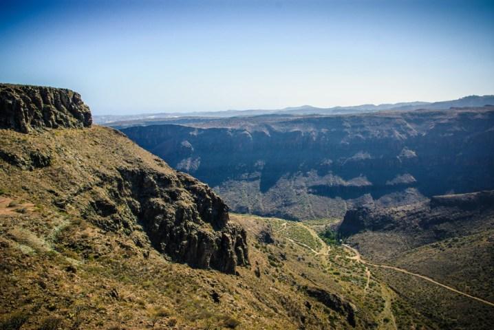 Гледката от Мирадор де Унамуно, Гран Канария
