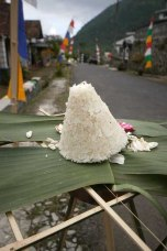 "Rice cone called ""tumpeng"", Magelang Regency."