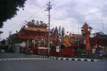 Magelang's Liong Hok Bio Chinese temple was still intact, before the fire. Image by Panduan Wisata Yogyakarta.