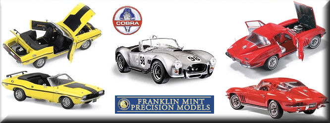 Franklin Mint Diecast Car Models