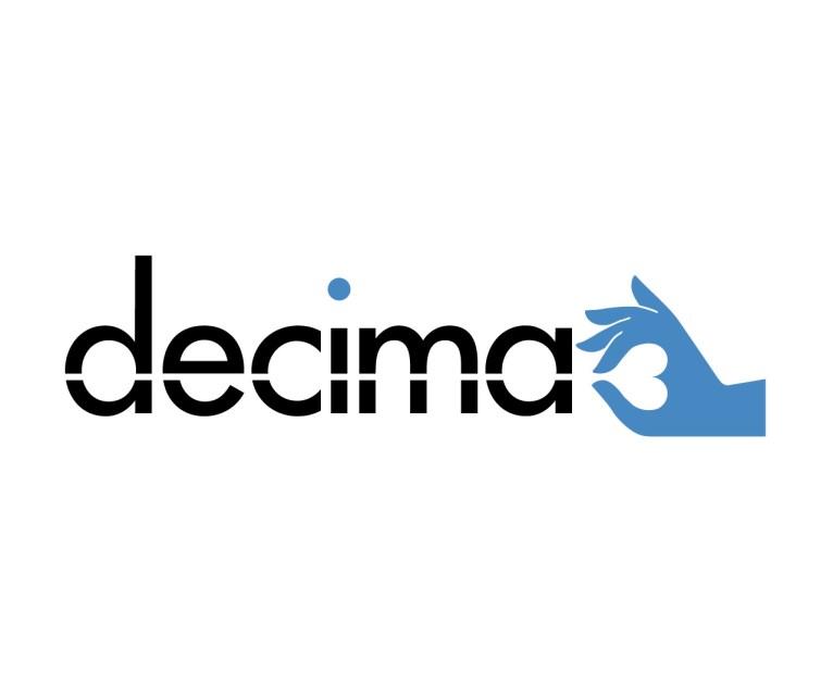 Decima logo, symbol and type brand, corporate identity.