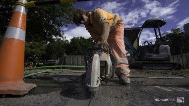 Cutting pavement asphalt