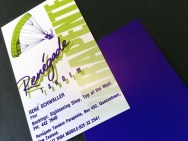 Renegade Tandem Parapente logo and business card. This Queenstown Tandem Parapente company name is a wordplay on the proprietors name - Rene Schwaller. Brands for New Zealand businesses, Queenstown.