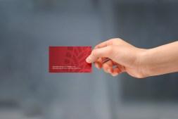 Handheld MTC Equipment business card back. Full colour front, full colour back.