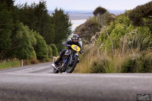 Big Velo 500, Bill Biber, Bluff HIll Climb, Burt Munro Challenge, Flagstaff Road, Motupohue, New Zealand, NZ Hill Climb Champs, Rider 4, Velocette Big Velo 500